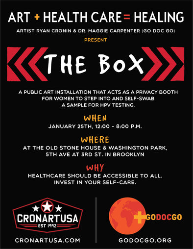 Artist Ryan Cronin partners with Go Doc Go to offer an immersive art experience that also acts as a healthcare service. Health care and art should be accessible to everyone.