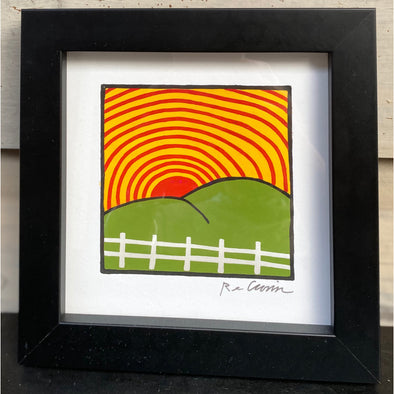 ODE TO FEEL THE SUNSHINE ON YOUR ASS - Framed Mini Print