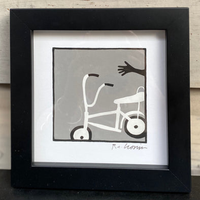 LOOK NO HANDS - Framed Mini Print
