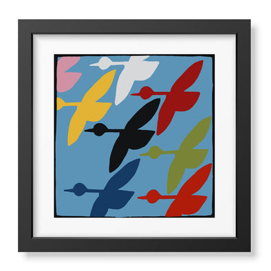 Colorful Geese Signed Print