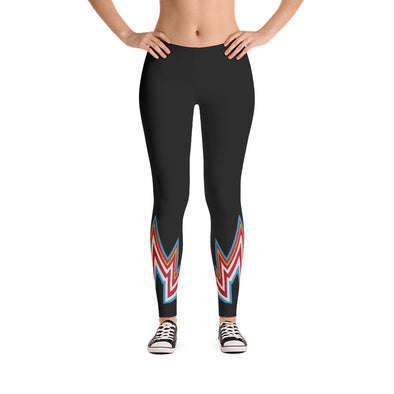 Lightning print legging, in black