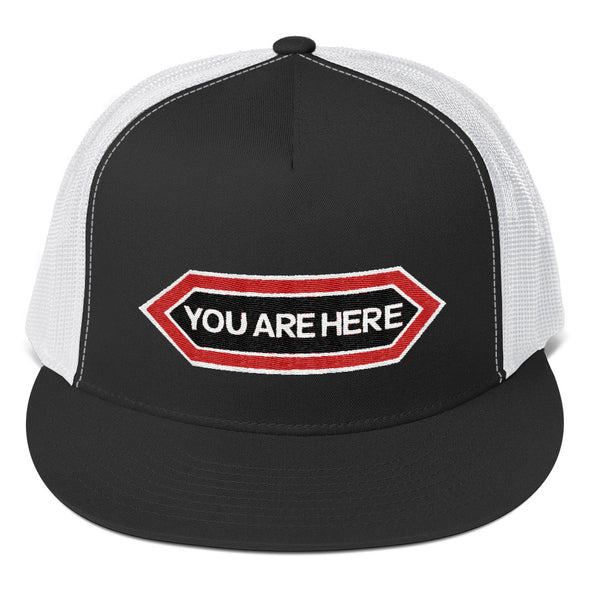YOU ARE HERE Five Panel Trucker Hat