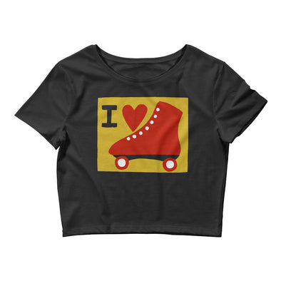 I Heart Roller Skate Women's Crop Top
