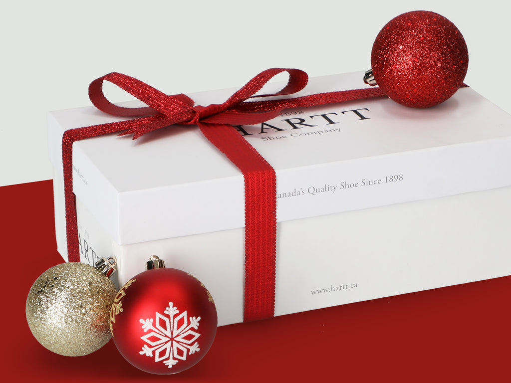 Hartt Shoe Box with Christmas decoration