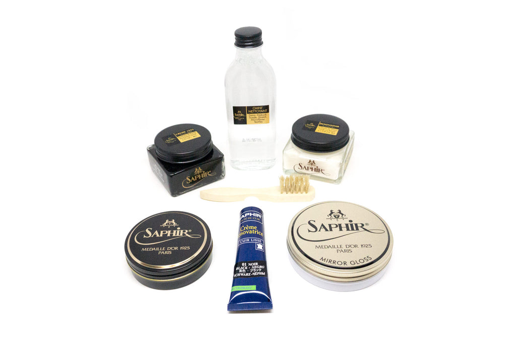 Saphir shoe care products