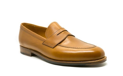Hartt brown leather loafers