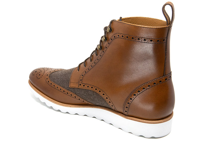 Men's Fred Brown Leather Canadian Boot