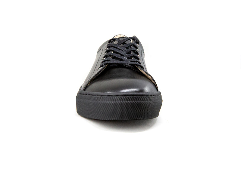Men's Midnight Black Leather Canadian Sneaker