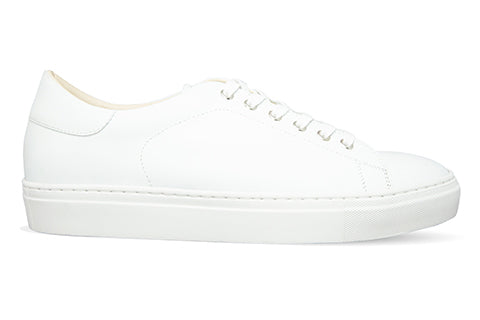 Men's White Leather Canadian Blanc Sneaker factory second