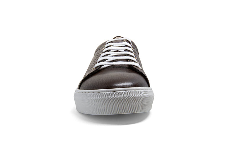 Men's Espresso Brown Leather Canadian Sneaker