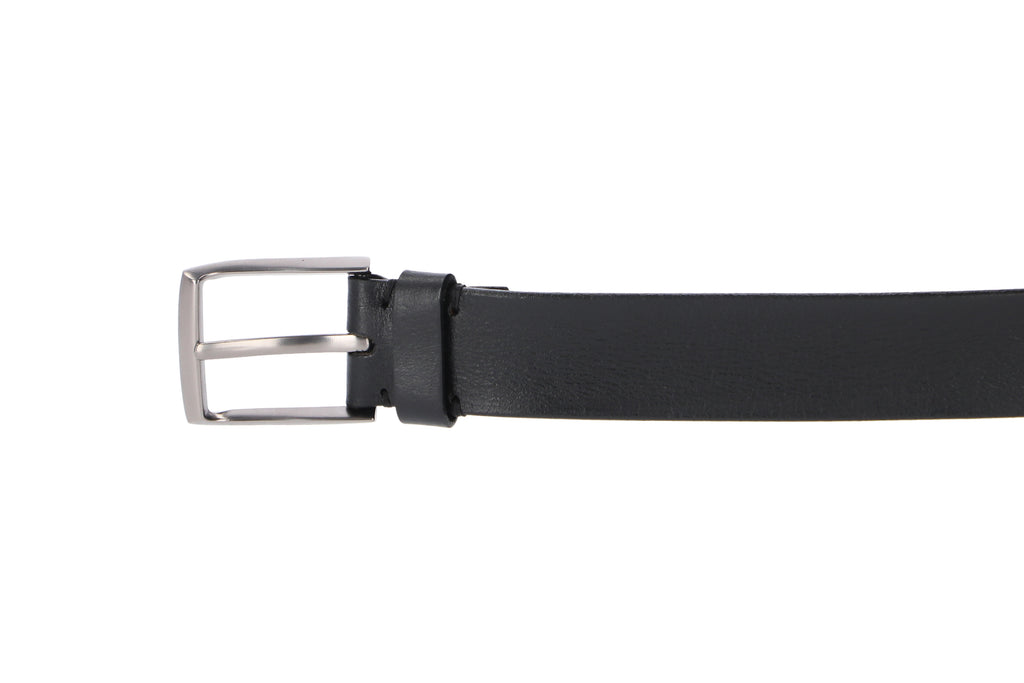 Men's Italian leather belt black : buckle