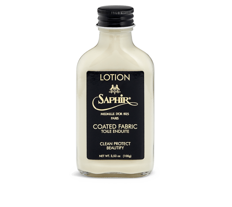 Saphir coated fabric lotion