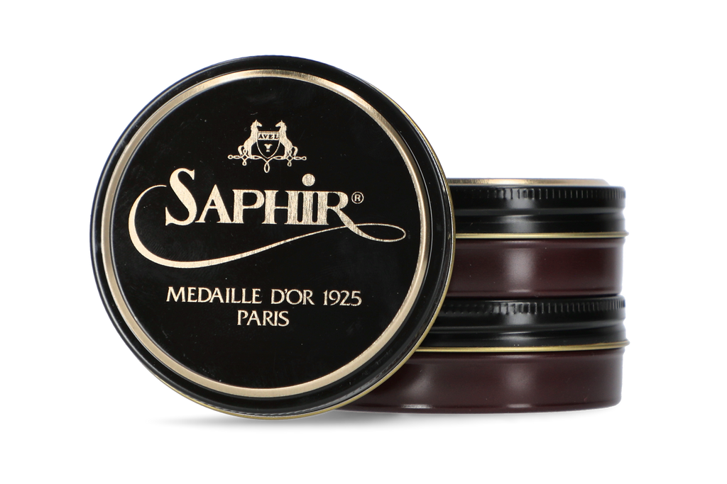 Saphir burgundy shoe polish