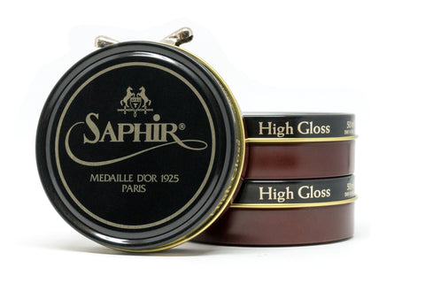 Saphir Mirror Gloss Wax Oxblood Leather Shoe And Boot Polish