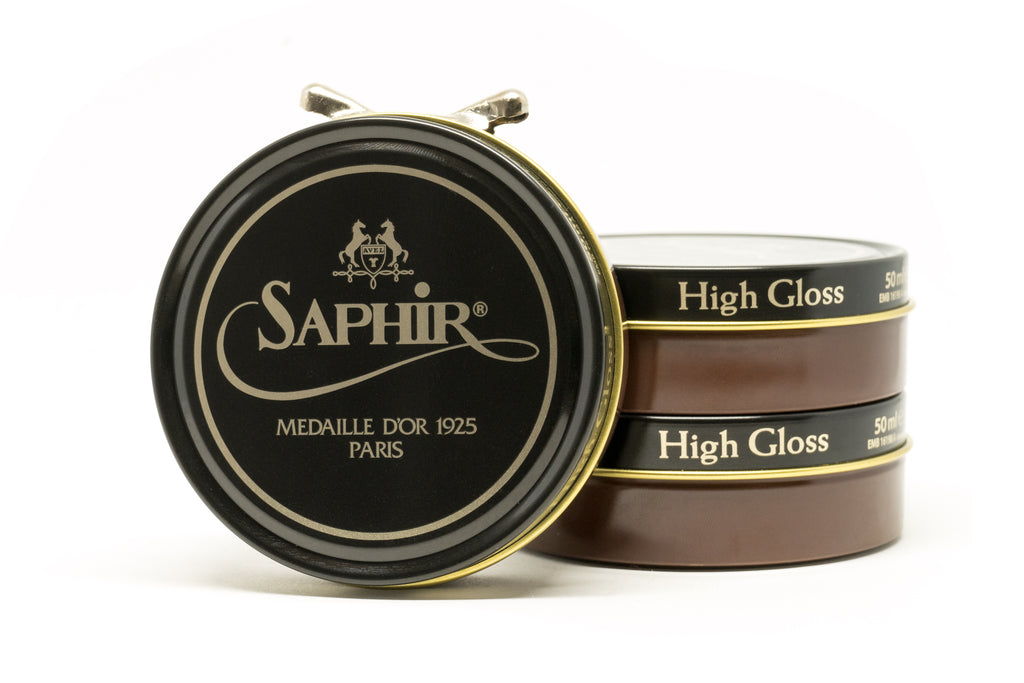 Saphir Pate De Luxe Wax Shoe Polish - Medium Brown