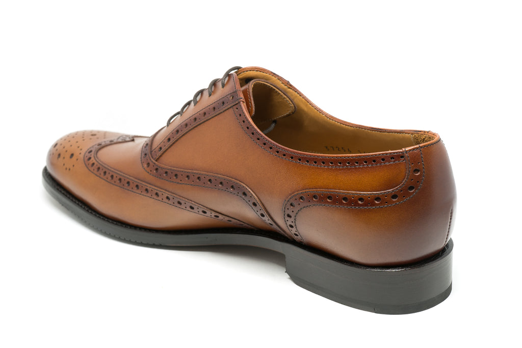 York Oxford Brown Leather Dress Shoe factory second