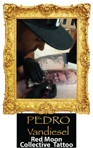 Sponsored SheaCare Artist Pedro Vandiesel from Redmoon Collective Tattoo Studio