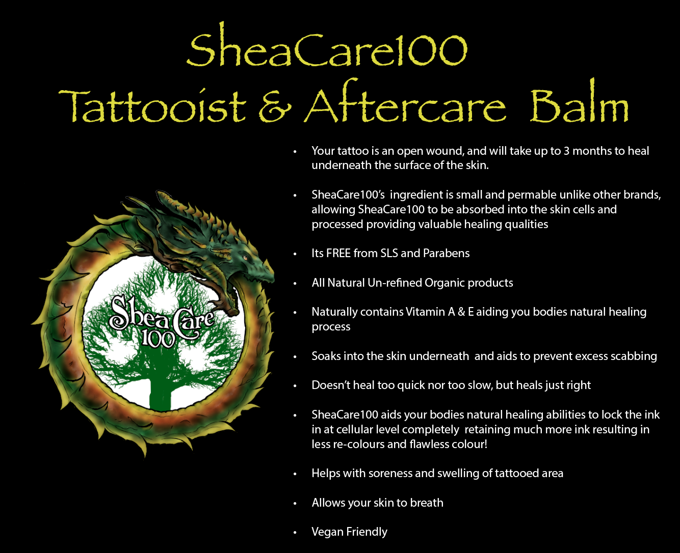 SheaCare100 Tattoo & Laser Aftercare