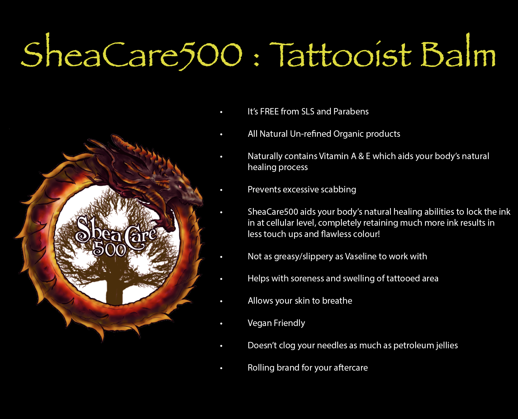 SheaCare500 Tattooist Balm