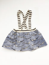 Whale Suspender Skirt, size 5T