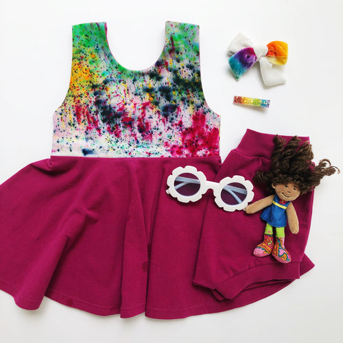 Color Run Peplum Top / Twirl Dress