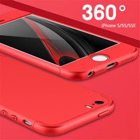 Bakeey™ 3 in 1 Double Dip 360° Full Protection Hard PC Cover Case for iPhone 5 5S SE - BLUENYLEDIRECT