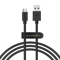 BW-CB7 2.4A 3.33ft/1m Micro USB Charging Data Cable With Magic Tape Strap - BLUENYLEDIRECT