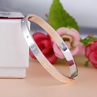 Trendy Rose Gold Silver Bracelet for Women Bangle Lover Bracelet Jewelry Titanium Love Bracelet Bangle