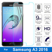 Samsung GALAXY A3 2016 Screen Protector 9H Tempered Glass Safety Protective - BLUENYLEDIRECT