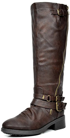 DREAM PAIRS Women's Knee High And Up Riding Boots (Wide Calf Available) - BLUENYLEDIRECT