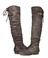 DREAM PAIRS Women's Fashion Casual Over The Knee Pull On Slouchy Boots - BLUENYLEDIRECT