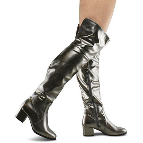 Premier Standard Women's Over The Knee Stretch Boot - Trendy Low Block Heel Shoe - Sexy Over The Knee Pullon Boot - Comfortable Easy Heel Boot - BLUENYLEDIRECT