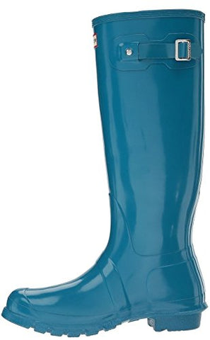 Hunter Women's Original Tall Gloss Rain Boot - BLUENYLEDIRECT