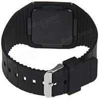 Touch Screen Rectangle Dial Rubber Band Sport Watch - BLUENYLEDIRECT