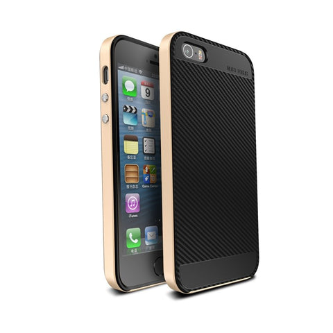 Ucase Carbon Fiber TPU PC Case For iPhone 5 5s SE - BLUENYLEDIRECT