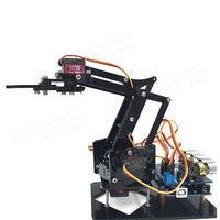 DIY 4DOF Robot Arm 4 Axis Rotating Mechanical Robot Arm With Arduino UNO R3 4PCS Servo - BLUENYLEDIRECT
