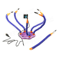 Realacc Strange Third Hand Six Arm Soldering Station with USB Fan - BLUENYLEDIRECT