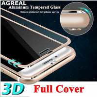 iPhone 8 Plus 8 3D Curved Titanium Edge Tempered Glass Full Coverage Protective - BLUENYLEDIRECT