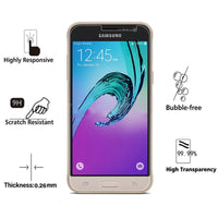Tempered Glass for Samsung Galaxy J3 2016 Pro Screen Protector 9H 2.5D - BLUENYLEDIRECT
