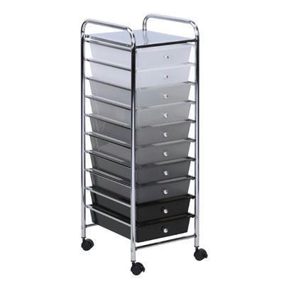 10 Drawer Rolling Storage Cart - BLUENYLEDIRECT