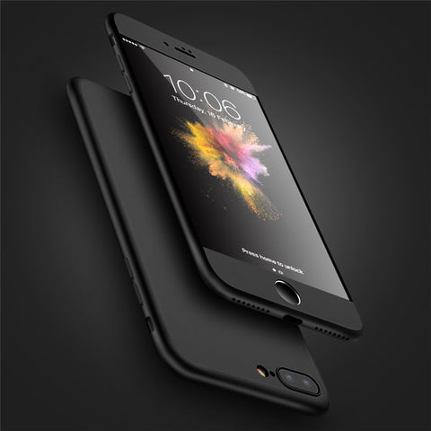 3 in 1 Combo 360 Degree Full Protection Case For iPhone 7 Case iPhone 6S 6 Plus Matte Touch PC Cover For iPhone 5S 5 SE - BLUENYLEDIRECT