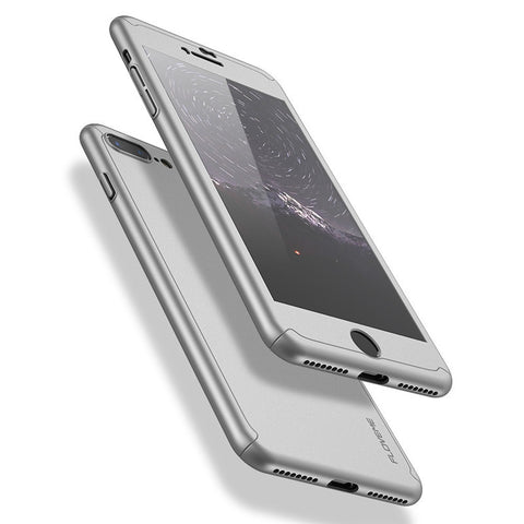 360 Full Body Coverage Case For iPhone 7 Plus iPhone 6 6S Plus Cover Screen Protector Tempered Glass For iPhone 7 6 Plus - BLUENYLEDIRECT