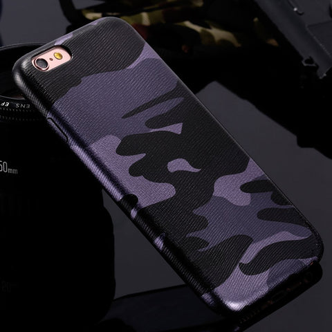Armor Camouflage Army Case For iPhone X 6 6S 7 Plus 5S 5 SE 8 iPhoneX Cases Cover Men Phone Accessories For iPhone X - BLUENYLEDIRECT