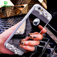 Bling Glitter Mirror Case For Apple iPhone 7 Plus 6 6S Plus 5 5S SE Cases Diamond Crystal Phone Cover For iPhone 7 Plus - BLUENYLEDIRECT