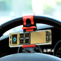 Car Steering Wheel Phone Socket Holder Navigate Case For iPhone 6 6S Plus 7 7 Plus 5 5S S6 Edge Plus S7 A5 A7 J5 Note 7 - BLUENYLEDIRECT