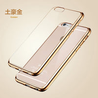 Case For iPhone 6 6S iPhone 6 6S Plus 7 5 5S Gold Plating Frame Clear Cover For Samsung Galaxy S6 Edge Plus S7 A5 Case - BLUENYLEDIRECT