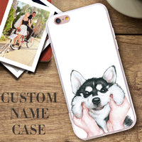 Cute Cartoon Case For iPhone 7 Plus 6 6S Plus 5S SE Dog Cover For Samsung Galaxy S6 S7 Edge S8 Plus Note 4 5 A5 A7 A3 - BLUENYLEDIRECT
