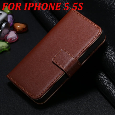 For iPhone 5 5S For iPhone SE Leather Case Retro Book Vertical Flip Card Holder For iPhone 5 5S Phone Bag Cases - BLUENYLEDIRECT