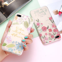 iPhone 6 6S Plus Case 3D Embossed Flower Silicon Cover For iPhone 6 6S iPhone 7 Plus Coque Women Phone Accessories - BLUENYLEDIRECT