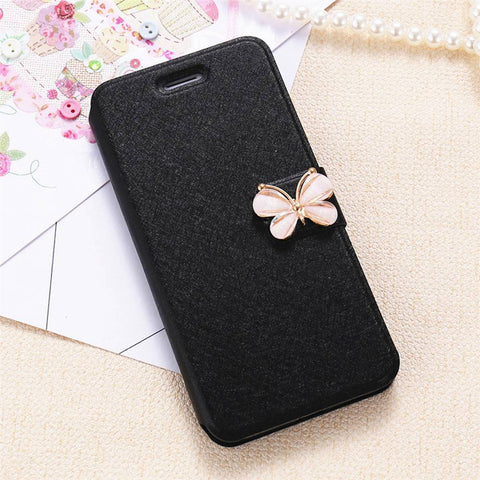 For iPhone 6 6S iPhone 7 Plus Leather Case Accessories SilkSkin Flip Phone Bag Cases For Samsung Galaxy S7 S6 Edge Case - BLUENYLEDIRECT